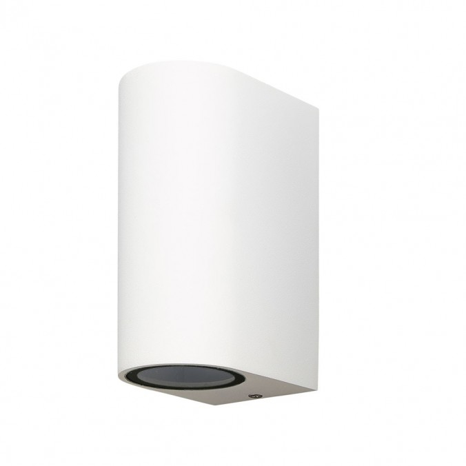 Aplique pared exterior 2 luces curvo blanco