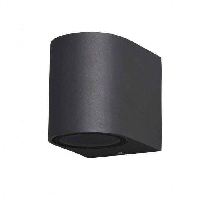 Aplique pared exterior 1 luz curvo gris