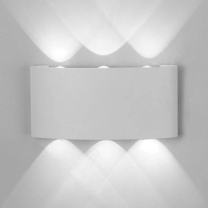 Aplique pared exterior LED serie Arcs blanco