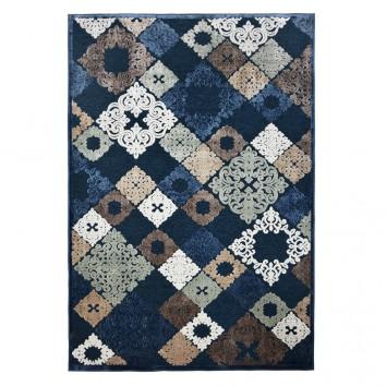 Alfombra SCARPA mosaico azul - varios tamaños