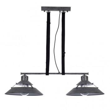 Lámpara de techo 2 luces INDUSTRIAL