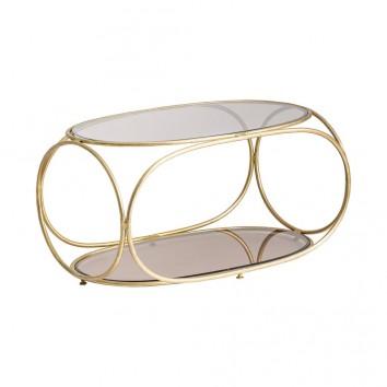 Mesa de centro KRUTH estilo Art Deco - 94x55x49h
