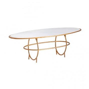 Mesa de centro KRUTH estilo Art Deco - 142x60x46h