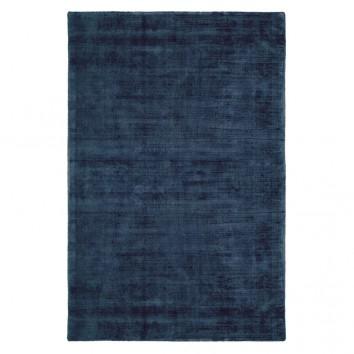 Alfombra 100% viscosa JAMBI azul oscuro - varios tamaños