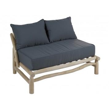 Sofá exterior de teca estilo mediterráneo - 131x80x72h