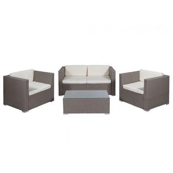 Conjunto de exterior sofá + sillones + mesa de centro