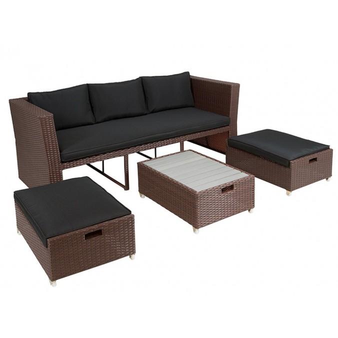 Conjunto terraza 4p. Lido - 178x78x75h