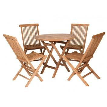 Conjunto de exterior mesa - 80x80x77h con 4 sillas