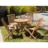 Conjunto de mesa con 4 sillas - 80x80x77h