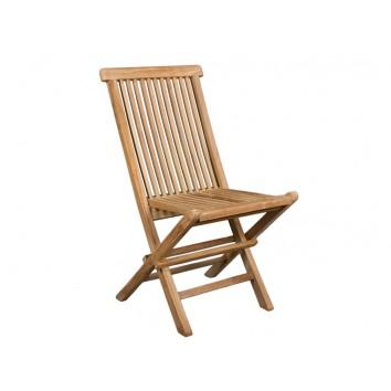 Silla plegable de exterior madera de teca - 43x47x89h