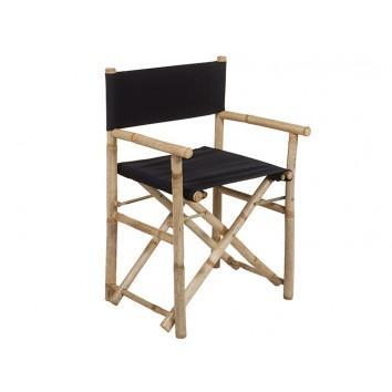 Silla director bambú negra - 58x45x89h