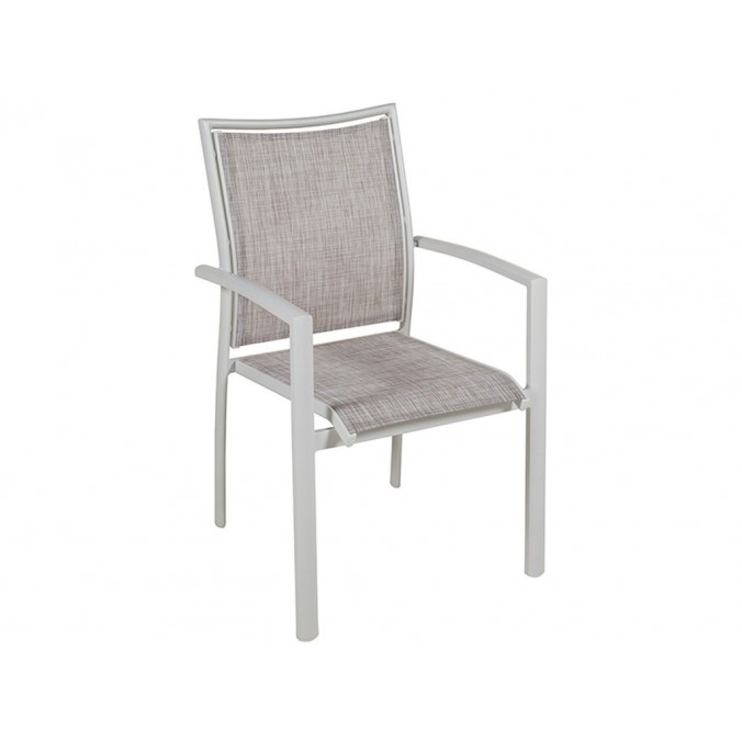 Silla aluminio jardín - 57x66x90h