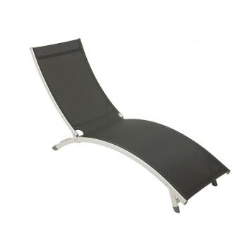Tumbona aluminio gris - 180x55x25h