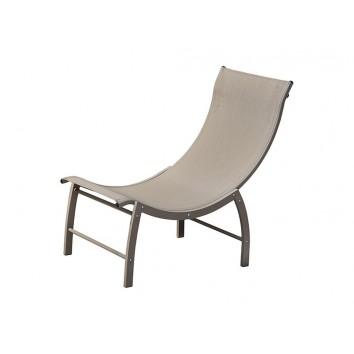 Tumbona jardín de aluminio - 106x58x94h