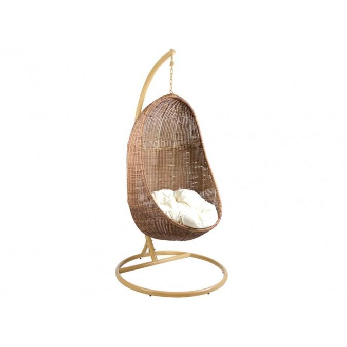 Canasto balancín cojín blanco - 85x75x190h