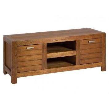 Mesa TV madera mindi de estilo colonial - 150x50x60h