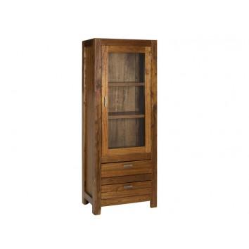Vitrina madera de mindi de estilo colonial - 70x40x180h