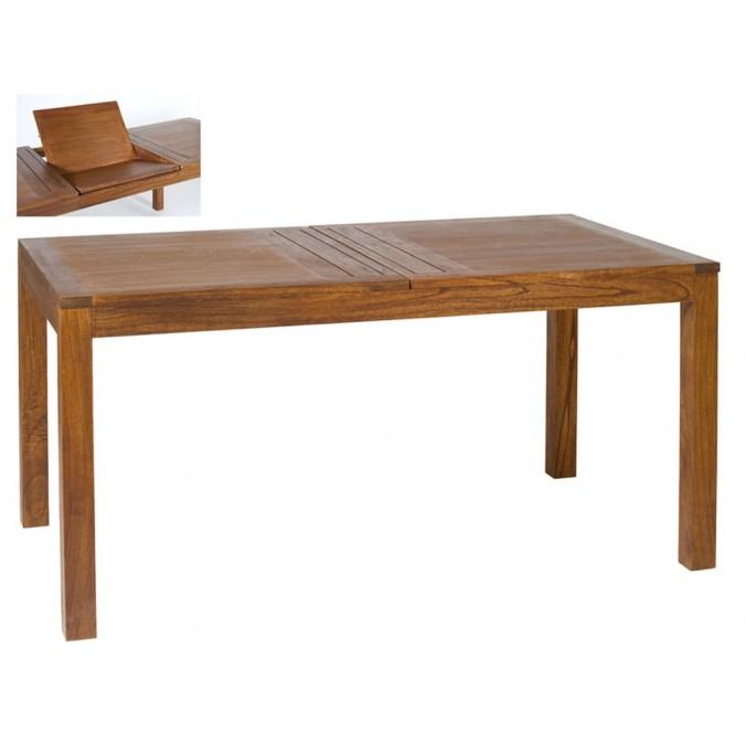 Mesa de comedor extensible madera mindi- 160x90x78h - Erizho