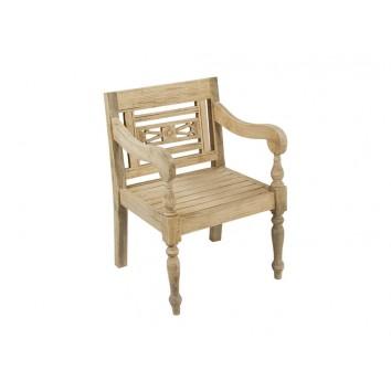 Sillón de madera natural estilo provenzal - 60x62x87h