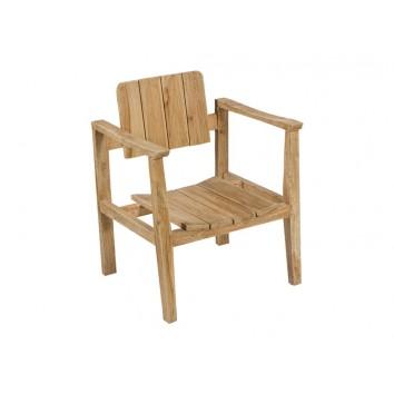 Sillón rústico de madera natural - 62x58x80h