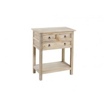 Consola de estilo rústico en madera  - 66x38x81h