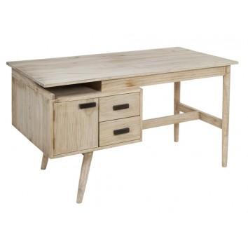 Escritorio estilo nórdico madera mindi - 140x70x76h