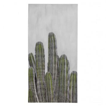 Lienzo Cactus I impreso y retocado a mano - 50x100x3cm