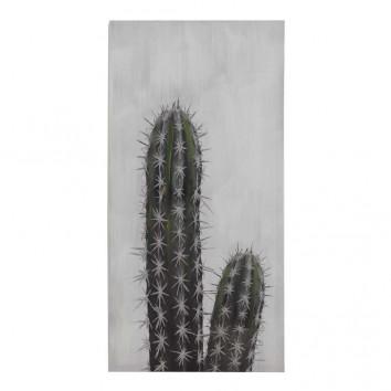 Lienzo Cactus II impreso y retocado a mano - 50x100x3cm