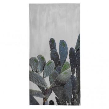 Lienzo Cactus IV impreso y retocado a mano - 50x100x3cm