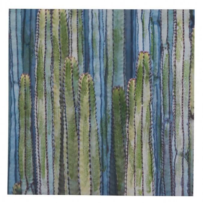 Lienzo Cactus V impreso y retocado a mano - 70x70x3cm