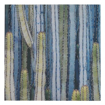 Lienzo Cactus VI impreso y retocado a mano - 70x70x3cm