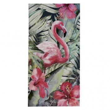 Lienzo flamencos I impreso y retocado a mano - 60x120x3cm