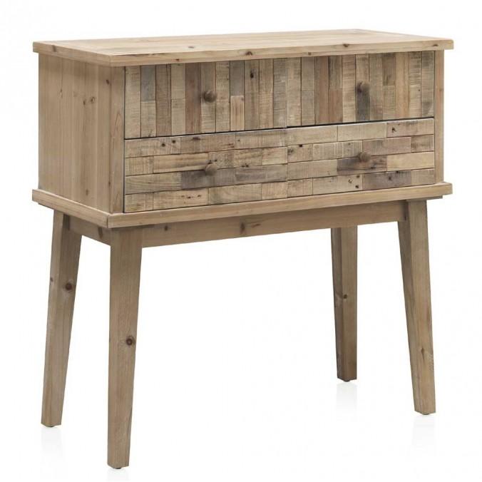 Consola estilo vintage 85x40x85h madera reciclada