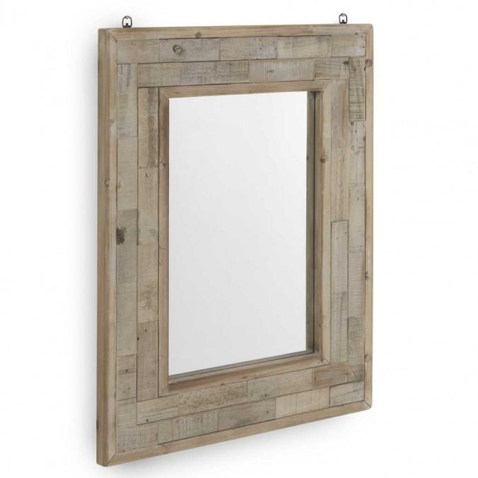 Espejo 70x90cm marco madera de abeto reciclada
