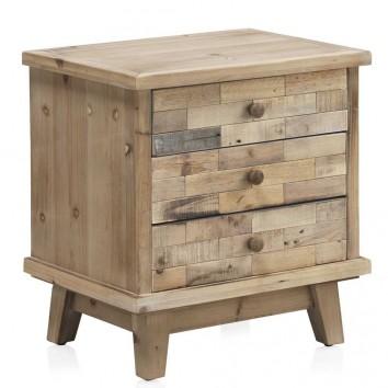 Mesilla estilo vintage 50x30x93h madera reciclada