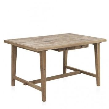 Mesa de comedor estilo vintage rústico 140x90x77h