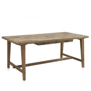 Mesa de comedor estilo vintage rústico 180x90x77h