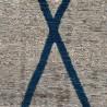 Alfombra Antik Chenille CROSS BLUE - varios tamaños