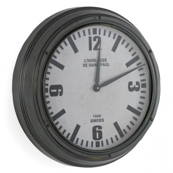 Reloj pared 51cm de estilo retro industrial