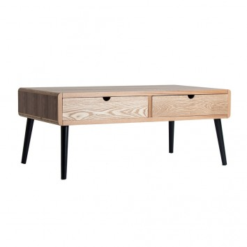 Mesa de centro estilo nórdico madera fresno - 110x60x46h
