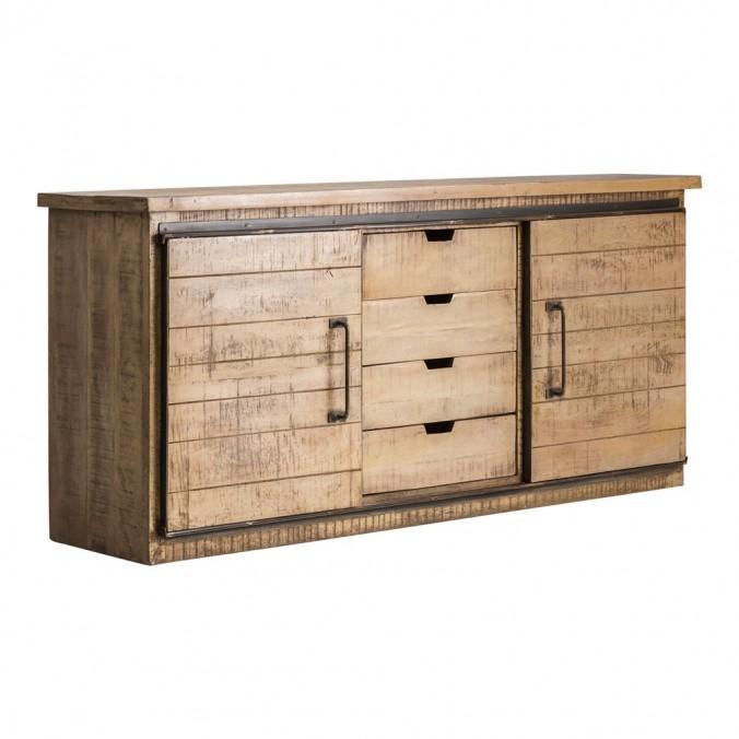 Aparador 120cm estilo industrial madera mango