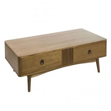 Mesa centro estilo vintage madera de teka - 120x60x44h