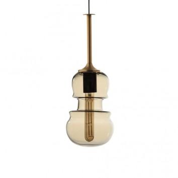 Lámpara colgante Sonata bronce 15cm