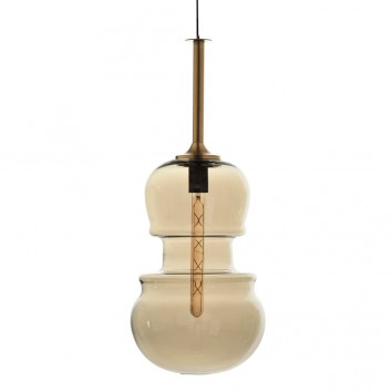 Lámpara colgante Sonata bronce 29cm