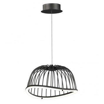 Lámpara techo LED serie CELESTE negro41cm