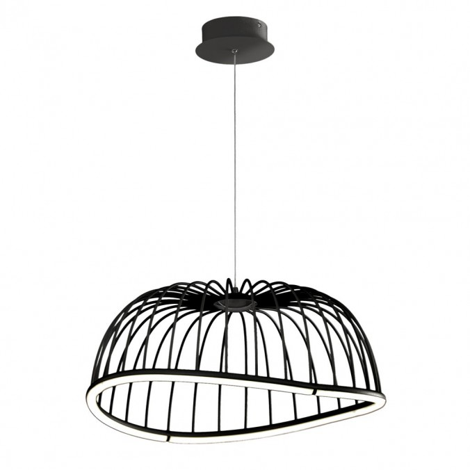 Lámpara techo LED serie CELESTE negro 61cm