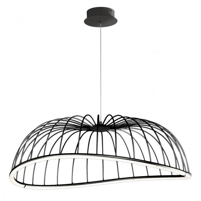 Lámpara techo LED serie CELESTE negro 81cm