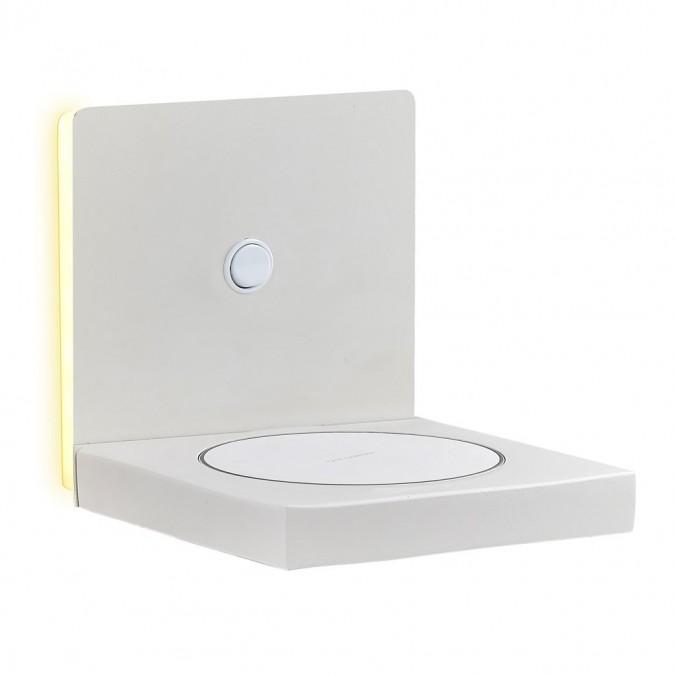 Aplique pared LED con cargador movil inducción