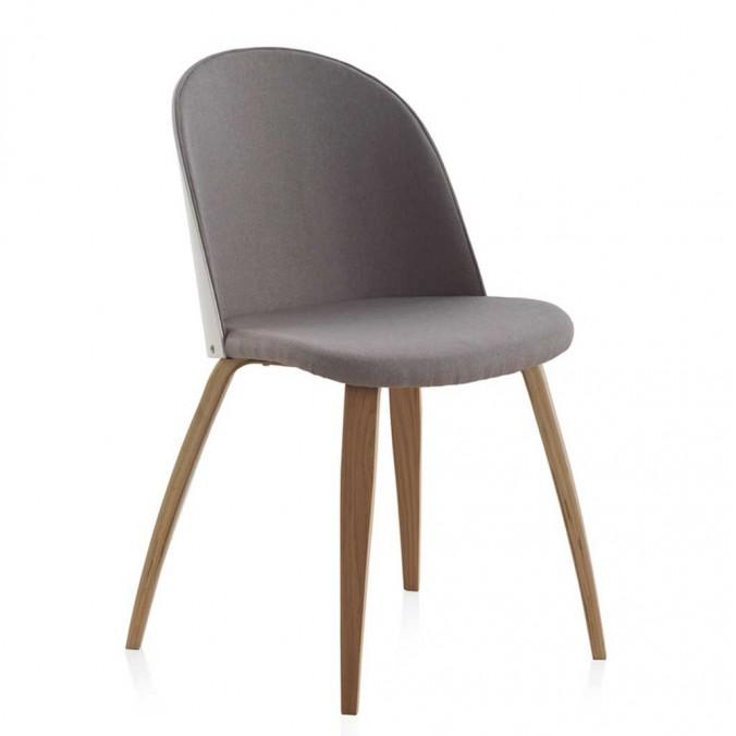 Pack 4 sillas estilo nórdico respaldo blanco 47x57x81h