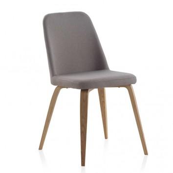 Pack 4 sillas estilo nórdico tapizada tela - 44x59x82h